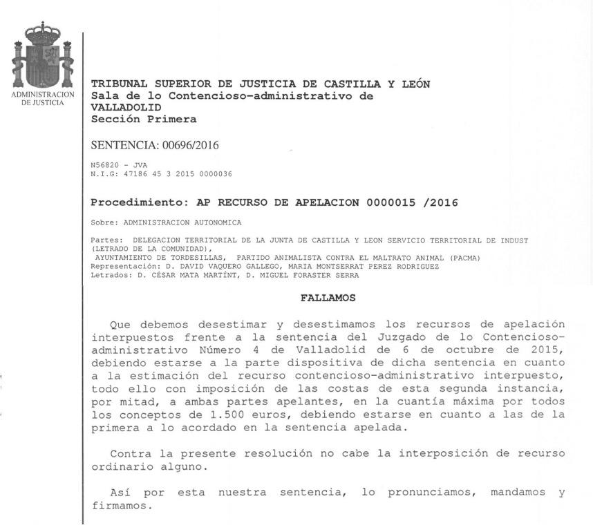 sentencia_PACMA_Toro-Vega